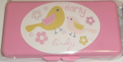 Pink Early Birdy Baby Wipes Case