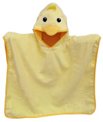 80cm x 80cm Large Duck Velour Poncho Hooded Towel, Frenchie Mini Couture