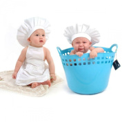 Coromose Cute Baby White Cook Costume Photos Photography Prop Newborn Hat
