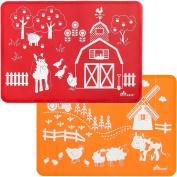 Brinware / Farm Friends Slip-Resistant Silicone Placemat Set