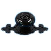 Tangpan (TM) Ceramic Door Knobs Black Zine Alloy Base Handle Colour Black Pack of 5