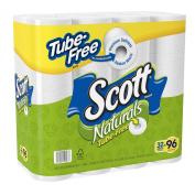 Scott Toilet Paper, White, Tube Free, 32 Mega Rolls