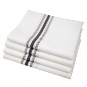 Riegel PRE-1822-EBS Bistro Napkins, 46cm by 60cm , Black Stripe, Set of 4