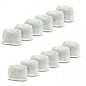 2 X Everyday KWF-12 12-Replacement Charcoal Water Filters for Keurig Coffee Machines, White