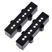 1set of 2pcs Black Open Pickup Cover for J Bass Guitar Bridge & Neck Position...