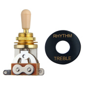 3 Way Toggle Switch Pickup Selector for Electric Guitar ,Golden/Ivory Tip