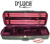 D'Luca CP03 Oblong Violin Case Burgundy - 3/4