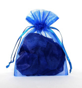 50pcs Royal Blue Organza Drawstring Pouches Jewellery Party Wedding Favour Gift Bags 15cm x 23cm