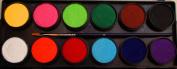 Essential 12 Colour Palette - Professional Face Paint