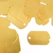 ImpressArt, Dog Tag, Military, Brass, 3.2cm x 1.9cm Stamping Blanks- 24 pc.