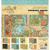 Graphic 45 Artisan Style Pad, 20cm by 20cm