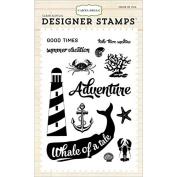 Carta Bella Paper Company CB-Stamp1 Whale of a Tail Stamp Set Scrapbook