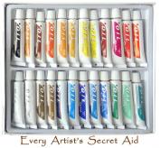 Daveliou Oil Paint Set - 24 Non-Toxic Oil Paints 12ml - Vivid Colours