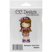 C.C. Designs Swiss Pixie Cling Stamp, 9.5cm by 5.1cm , Birthday Cake Lucy