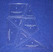 7 Piece Veterans Quilt Laser Cut Templates - 0.3cm Acrylic-clear - W/guidelines
