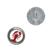 Lobster Metal Craft Sewing Novelty Buttons - Set of 4