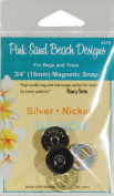 Pink Sand Beach Magnetic Purse Snap Silver Nickel 1.9cm