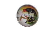 Snap Charming Snowman Merry Christmas Interchangeable Jewellery Snap Accessory