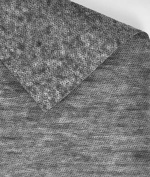 Charcoal Grey Medium Weight Fusible Interfacing Fabric - by the Yard