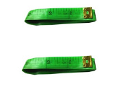 "Viskey 150cm 60"" Ruler for Tailor /Sewing /Cloth Measuring, Pack of 2 pcs Green"