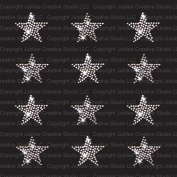 Set of 12 Clear Stars Iron On Rhinestone Crystal T-shirt Transfers by Jubilee Rhinestones