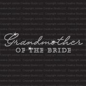 Grandmother of the Bride Iron On Rhinestone T-Shirt Transfer by Jubilee Rhinestones