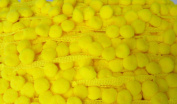 12mm Lemon Yellow Pompoms Ball Fringe Dangle Trim Sew on Fabric Lace 18 Yards