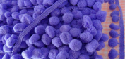 Lavender Pompom Ball Fringe Laces Fabric Dangling Trim Embellishments Shawl 18 Yards
