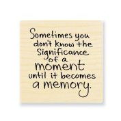 """Stampendous Wooden Handle Rubber Stamp, """"Moment Memory"""""""