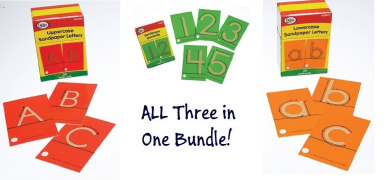 Tactile Sandpaper Complete Bundle (Lowercase Letters, Uppercase Letters and Numerals)