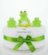 Unisex Nappy Cake new Baby Gift - Bath Frog baby toys baby shower gift - FREE delivery