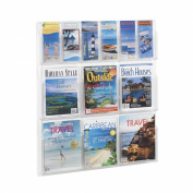 Safco Products Reveal 6 Magazine and 6 Pamphlet Display, Clear, 5606CL