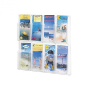 Safco Products Reveal 8 Pamphlet Display, Clear, 5608CL