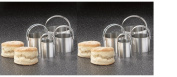 RSVP Endurance 4 Piece Stainless Steel Biscuit Cutter Set Pack of Two