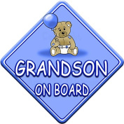 TED BALL * GRANDSON ON BOARD * car window sign