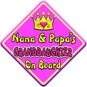 SWIRL JEWEL * Nana & Papa's GRANDDAUGHTER * On Board Novelty Car Window Sign