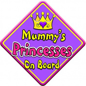 SWIRL JEWEL * Mummy's Princesses * On Board Novelty Car Window Sign