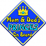 SWIRL JEWEL * Mum & Dad's PRINCES * On Board Novelty Car Window Sign