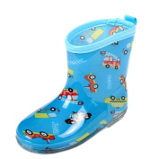 BLUE Cars Toddler Rain Shoes Baby Rain Boot Rainy Day Wear Rubber Shoes