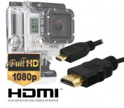Luxebell HDMI HD Video Cable for Gopro Hero3,Hero3+,Hero4 Black/Silver Edition Camera--5feet/1.5m