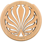 The Lute Hole Company 10cm Soundhole Covers for Feedback Control in Maple or Walnut Maple Heavy