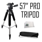 Professional 140cm Tripod 3-way Panhead Tilt Motion with Built In Bubble Levelling for Sony Cyber-shot RX10, H400, H300, HX400V, HX300, HX200V, H200, HX100V, DSC-HX50V, HX30V, HX20V, HX10V, RX100, RX100M II, RX100M III & H90 Digital Cameras