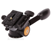 Koolehaoda 360°single Handle Hydraulic Damping Three-dimensional Head with Quick Release Plate for Tripod Monopod