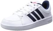 Adidas Boy's Hoops VS K Footwear - White/Black/Red, Size 4.5