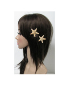 2 x Real Starfish Hair Clips Sea Shell Mermaid Boho Star Fish Beach Festival O27 *EXCLUSIVELY SOLD BY STARCROSSED BEAUTY*