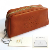 """Sonnenleder-High-Quality Cosmetic Bag with """"("""" BERNINA Pattern Colour"""