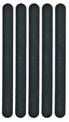 Hive of Beauty 5 Pack Double Sided Black Beauty Emery Board Nail Files Grit For Natural Nails HBA1275 CODE