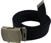 Enimay 140cm Military Army Style Canvas Web Belt w/ Brass Roller Buckle