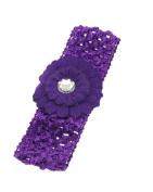 Zac's Alter Ego® Baby / Children's Crochet Headband with Daisy Flower