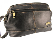 Rowallan Top Frame Soft Leather Wet / Wash / Toiletry Bag - 7494